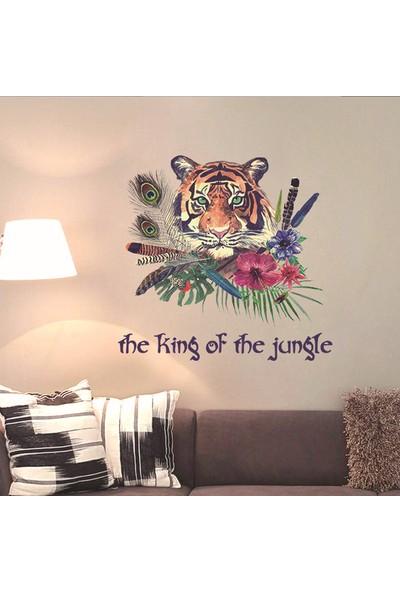 Crystal Kids Ormanlar Kralı Kaplan Şekilli PVC Duvar Sticker