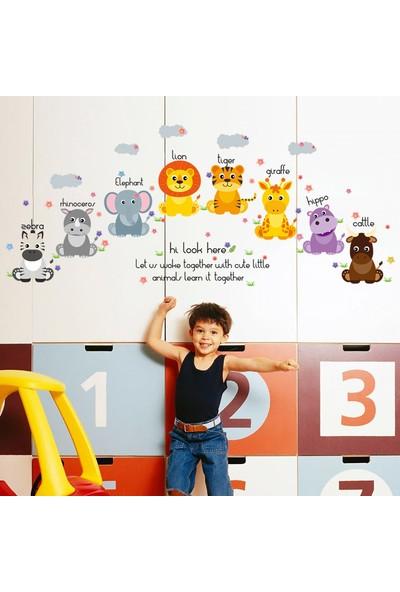 Crystal Kids Sevimli Yavru Hayvanlar Çocuk ve Bebek Odası PVC Duvar Sticker