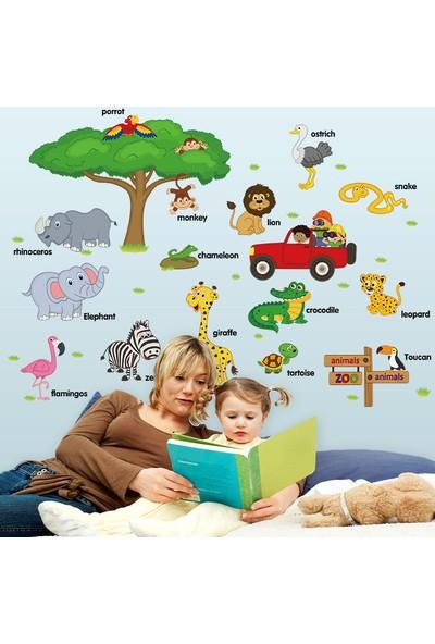 Crystal Kids Orman Hayvanları ve İsimleri Çocuk ve Bebek Odası PVC Duvar Sticker