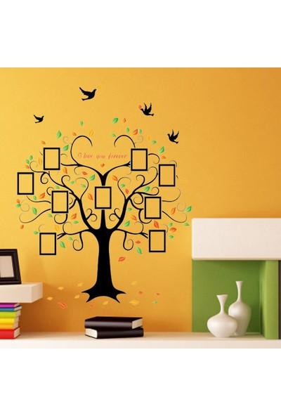 Crystal Kids Dev Boyutlu Soy Ağacı Şekilli Fotoğraf Resim Çerçeveli PVC Duvar Sticker