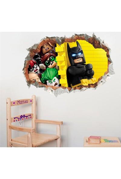Crystal Kids Batman Lego Joker 3D Görünümlü Bebek ve Çocuk Odası PVC Duvar Sticker