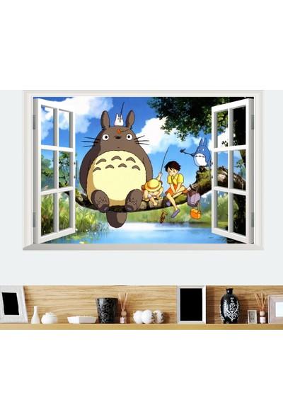 Crystal Kids Miyazaki Komşum Totoro Bebek ve Çocuk Odası Anime PVC Duvar Sticker