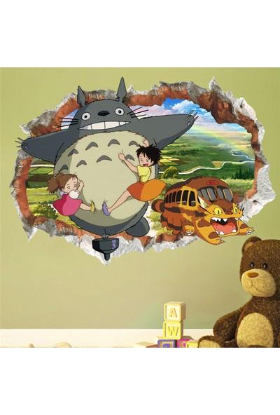 Crystal Kids Miyazaki Kahramanları ve Totoro Anime Bebek ve Çocuk Odası PVC Duvar Sticker
