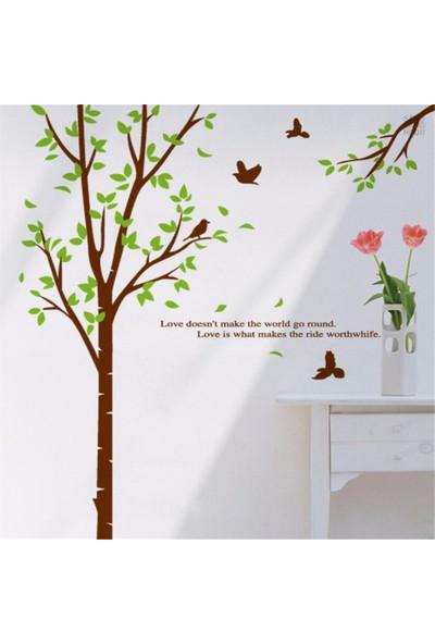 Crystal Kids Ağaç ve Kuşlar PVC Duvar Sticker