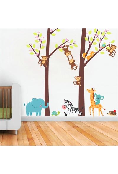 Crystal Kids Maymunlar ve Sevimli Hayvanlar Bebek ve Çocuk Odası PVC Duvar Sticker