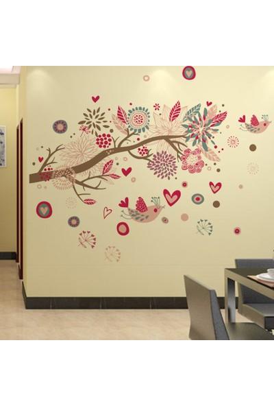 Crystal Kids Ağaç Kuş Çiçekler PVC Duvar Sticker