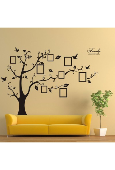 Crystal Kids Soy Ağacı Şekilli Fotoğraf Resim Çerçeveli XL PVC Duvar Sticker