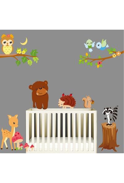 Crystal Kids Orman Hayvanları Çocuk ve Bebek Odası PVC Duvar Sticker