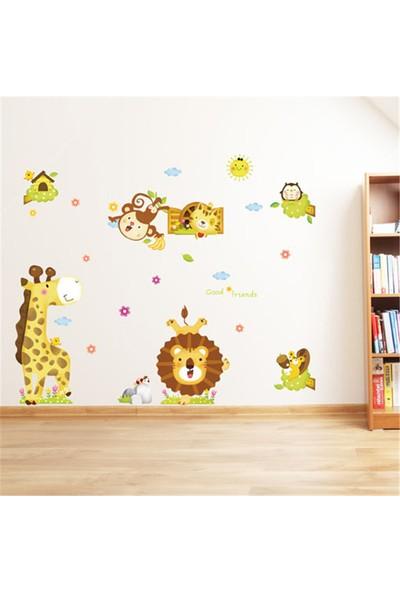 Crystal Kids Neşeli Orman Hayvanları Bebek ve Çocuk Odası PVC Duvar Sticker
