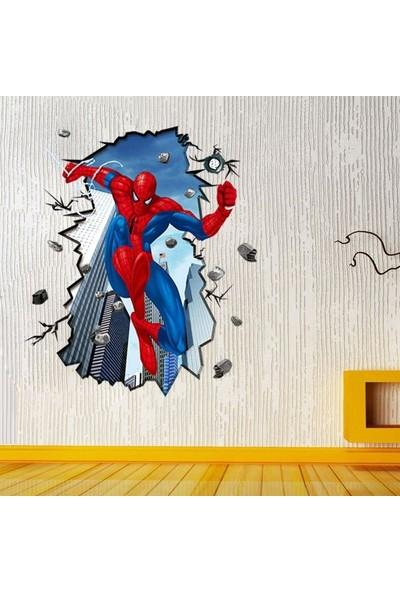 Crystal Kids Örümcek Adam Spiderman Fantasik 3 Boyutlu Dev Çocuk Odası Sticker