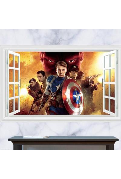 Crystal Kids Çocuk ve Genç Odası 3D Avengers Yenilmezler Süper Kahramanlar PVC Sticker