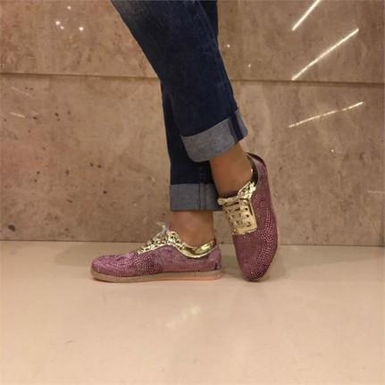 Shop and Shoes 155-203 Pudra Kadife Bayan Ayakkabı