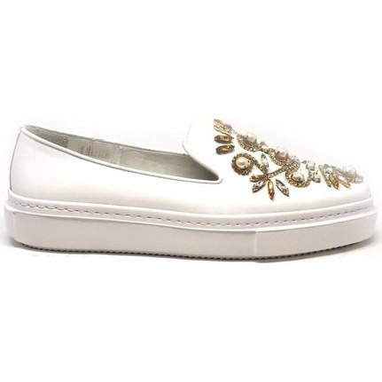 Shop and Shoes Bayan Ayakkabı Beyaz Rugan 129-3010