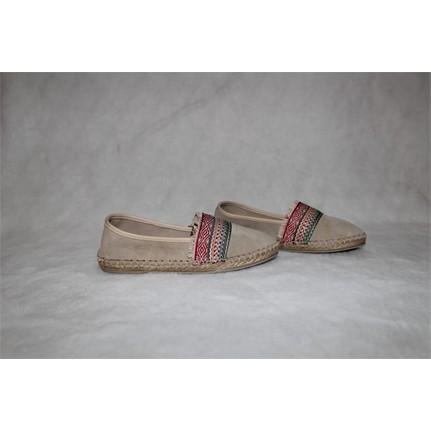 Shop and Shoes 0101607 Bej Süet Kadın Babet