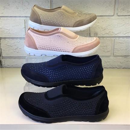 Shop and Shoes 173-20100 Vizon Süet Kadın Ayakkabı