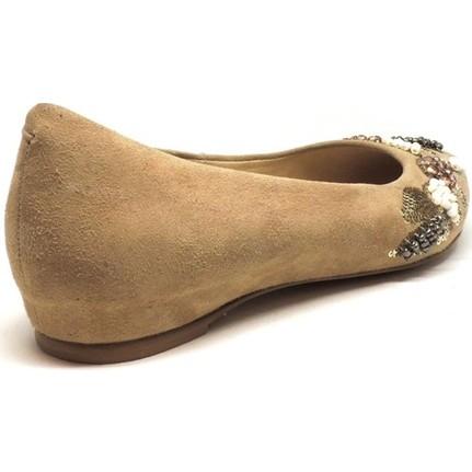 Shop and Shoes 1293000 Bej Süet Kadın Babet