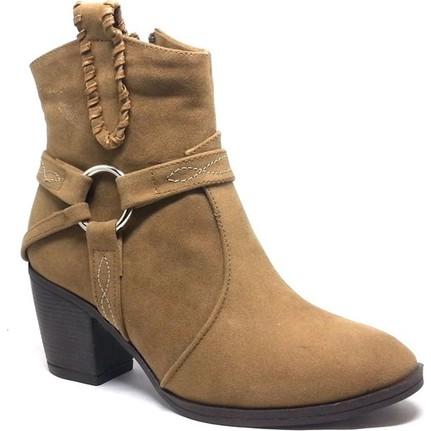 Shop and Shoes 171-604 Bej Süet Bayan Bot
