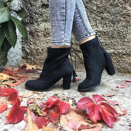 Shop and Shoes 172-4646 Siyah Süet Bayan Bot