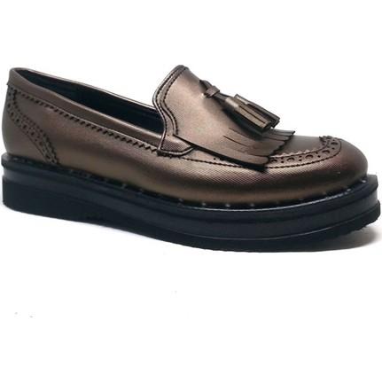 Shop and Shoes 031-7611 Bakır Bayan Ayakkabı