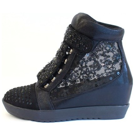 Shop And Shoes 015-SCR-30A Siyah Kadın Topuklu Ayakkabı