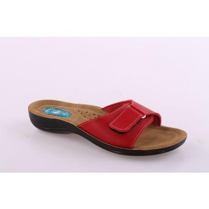 Ceyo 9808-15 Kırmızı Kadın Dolgu Topuk Terlik