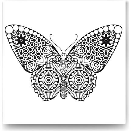 Evdeka Kelebek 1 Desenli Mandala Kanvas Tablo Fiyatı