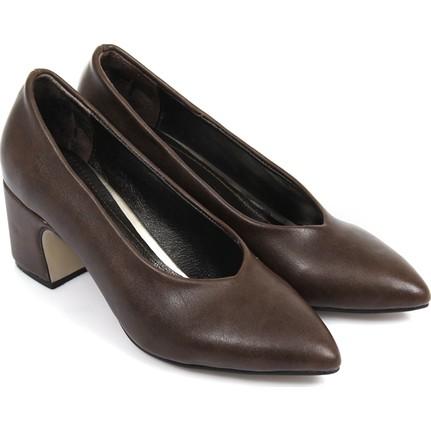 Gön Kadın Ayakkabı Koyu Kahverengi 36007