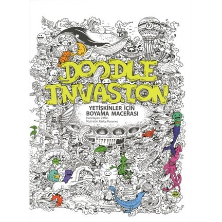 Doodle Invasion Yetişkinler Için Boyama Macerası Fiyatı