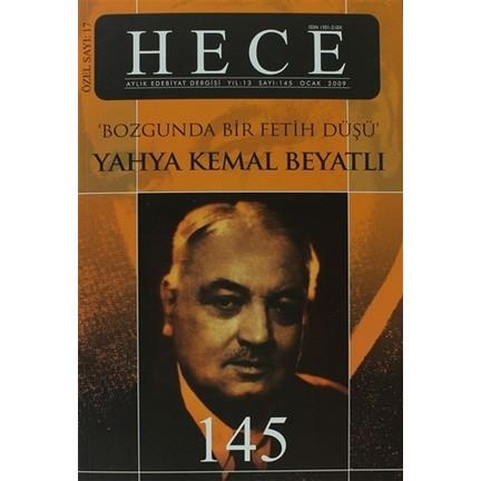 Hece Aylık Edebiyat Dergisi Yahya Kemal Beyatlı özel Sayı Fiyatı
