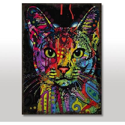Tablomega Ahşap Tablo Eski Sayılarla Boyama Kedi Fiyatı