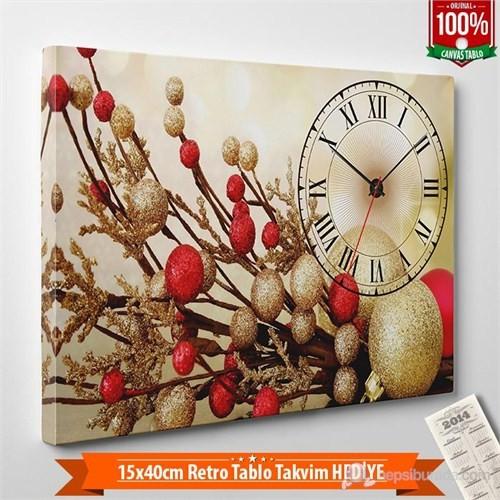 Tabloshop - Yılbaşı Özel Saat - Yb-07 - 45X30cm - Takvim Hediye
