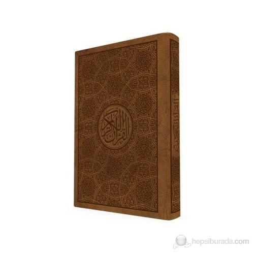 Gül Kokulu Diyanet Onaylı - Hafız Boy Kur'an-ı Kerim (Deri ve Sıvama Kapak)