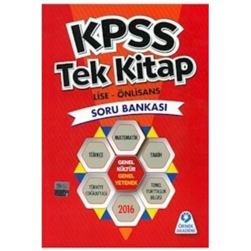 Örnek Akademi Kpss 2016 Tek Kitap Lise Önlisans Soru Bankası