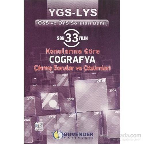 Güvender Son 33 Yılın YGS LYS Konularına Göre Coğrafya Çıkmış Sorular ve Çözümleri