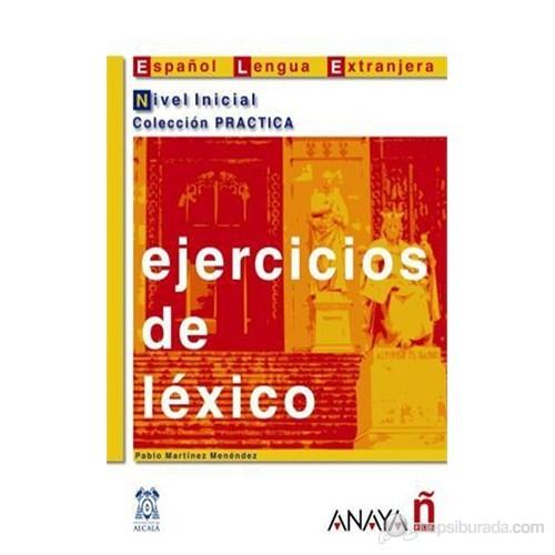Ejercicios de léxico - Nivel Inicial (İspanyolca kelime bilgisi – temel seviye)