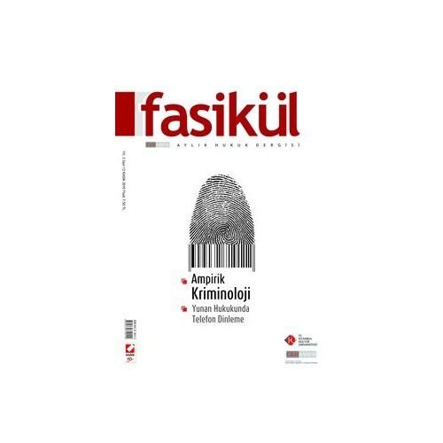 Fasikül Aylık Hukuk Dergisi Yıl: 2 Sayı: 12 Kasım 2010