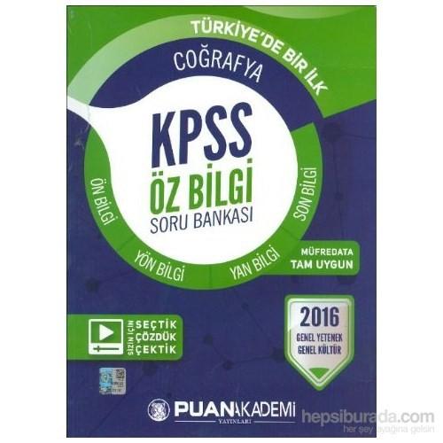 Puan KPSS 2016 Öz Bilgi Coğrafya Soru Bankası