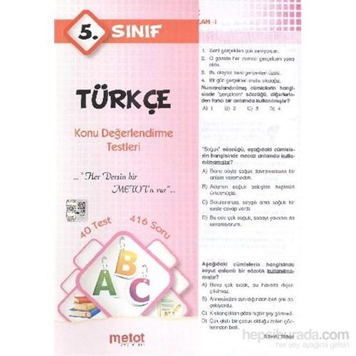 Metot 5. Sınıf Türkçe Konu Değerlendirme Testleri