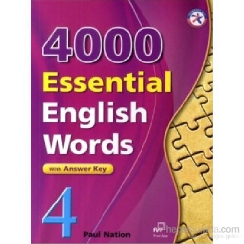 4000 Essential English Words 4 with Answer Key-İngilizce'de 4000 Temel Kelime