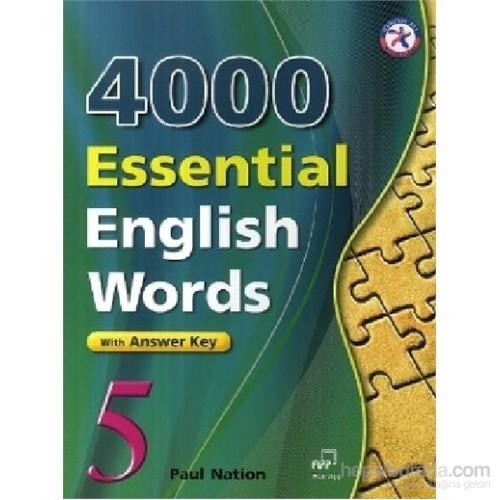 4000 Essential English Words 5 with Answer Key-İngilizce'de 4000 Temel Kelime