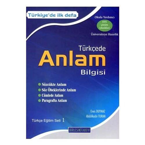 Türkçede Anlam Bilgisi