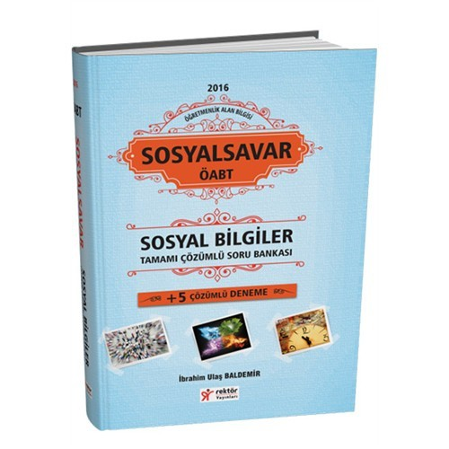 Rektör Yayınları Kpss Öabt 2016 Sosyal Bilgiler Öğretmenliği Sosyalsavar Tamamı Çözümlü Soru Bankası