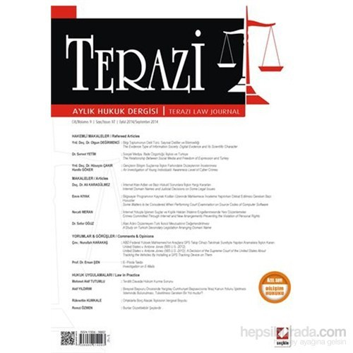 Terazi Aylık Hukuk Dergisi Sayı:97 Eylül 2014