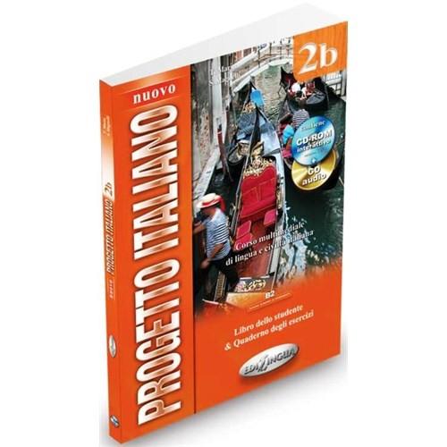 Nuovo Progetto Italiano 2b (Ders Kitabı ve Çalışma Kitabı +CD +CD ROM) İtalyanca Orta-üst Seviye
