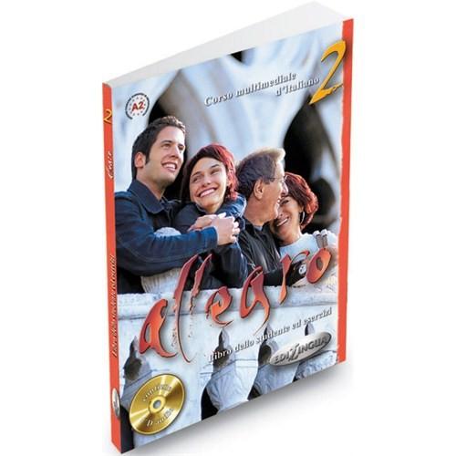 Allegro 2 (Ders Kitabı ve Çalışma Kitabı +CD) İtalyanca Orta-alt Seviye - Linda Toffolo