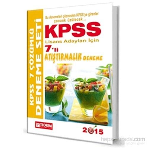 Teorem 2017 Kpss Gy-Gk Atıştırmalık Çözümlü 7 Deneme