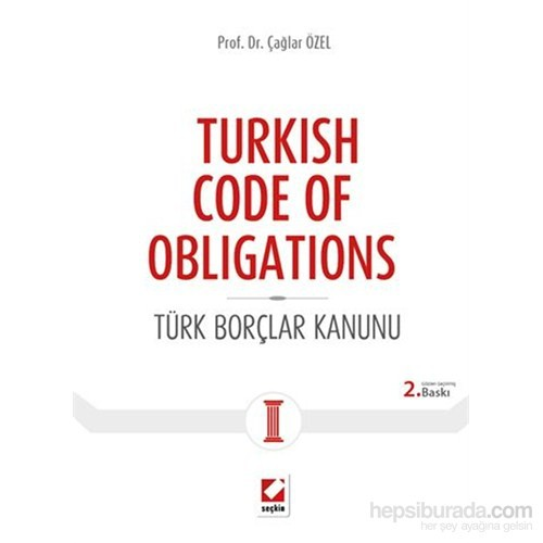 Turkish Code of Obligations - Türk Borçlar Kanunu