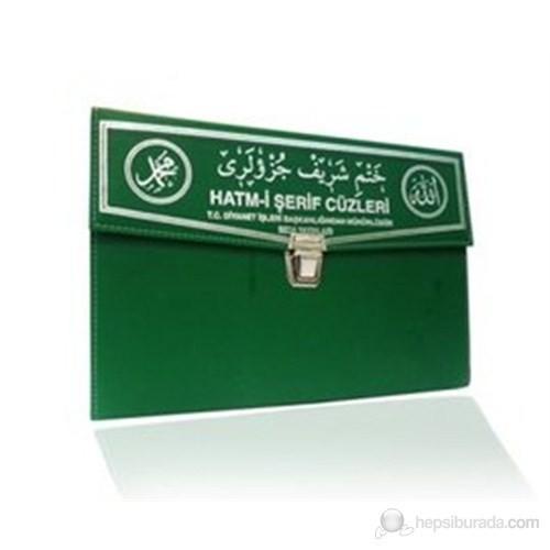 Kur'an-ı Kerim 30 Cüz Hatim Seti (Cep Boy, Çantalı, Yeşil Kapak, Kod: 129)
