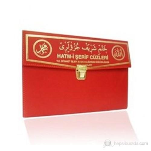 Kur'an-ı Kerim 30 Cüz Hatim Seti (Çanta Boy, Çantalı, Kırmızı Kapak, Kod: 130)
