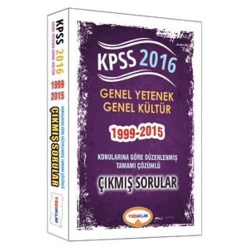 Yediiklim Kpss 2016 Genel Yetenek Genel Kültür Konularına Göre Düzenlenmiş Tamamı Çözümlü Çıkmış Sorular